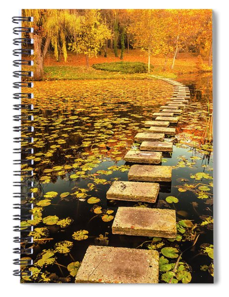 Way In The Lake Spiral Notebook