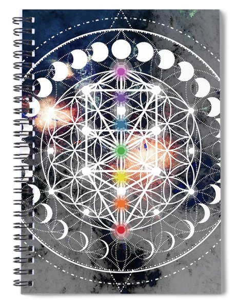 We Are Beings Of Light Spiral Notebook