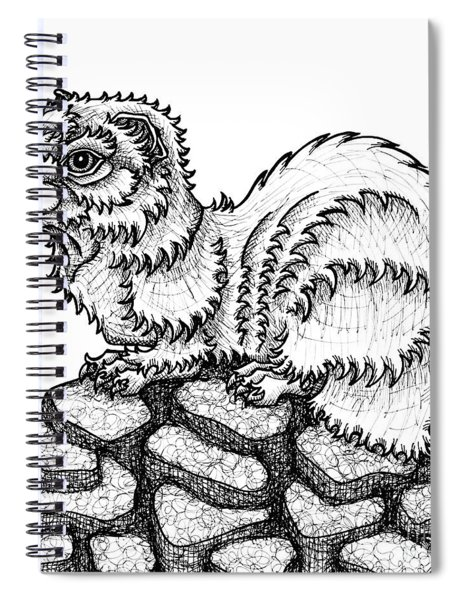 Weasel Spiral Notebook