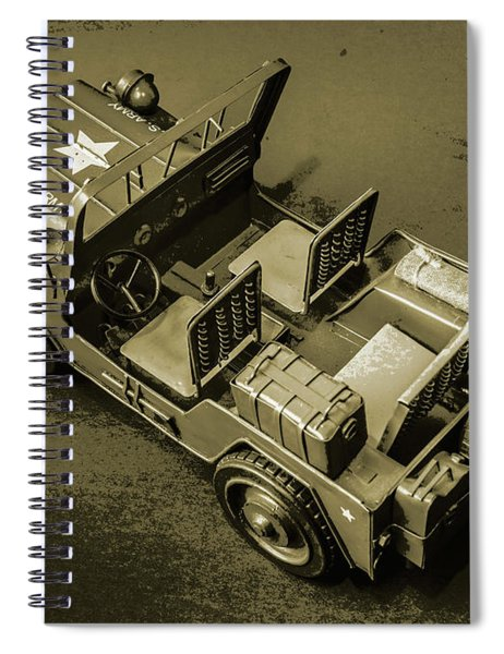 Weathered Defender Spiral Notebook