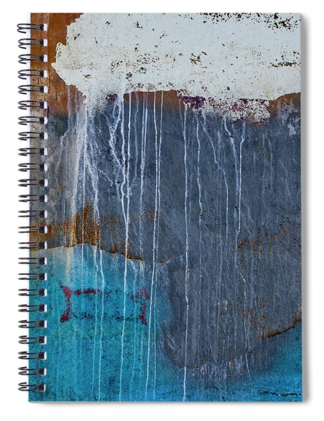 Weathered Paint Detail Spiral Notebook
