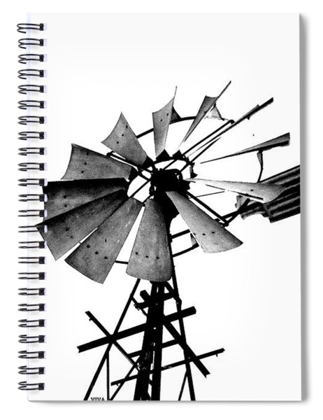 Weathered Windmill - B-w Spiral Notebook