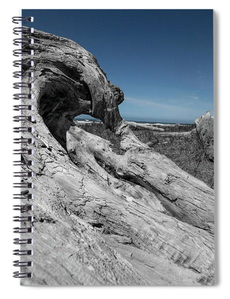 Weathered Wood On The Beach Spiral Notebook