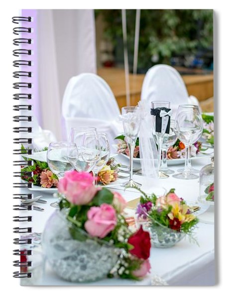 Wedding Table Spiral Notebook