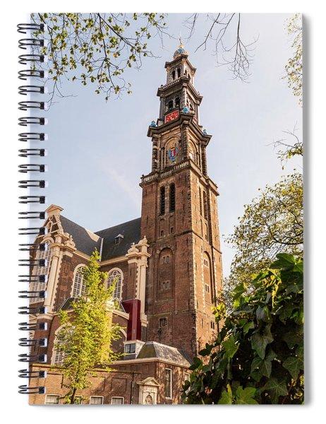 Westerkerk In Amsterdam Spiral Notebook