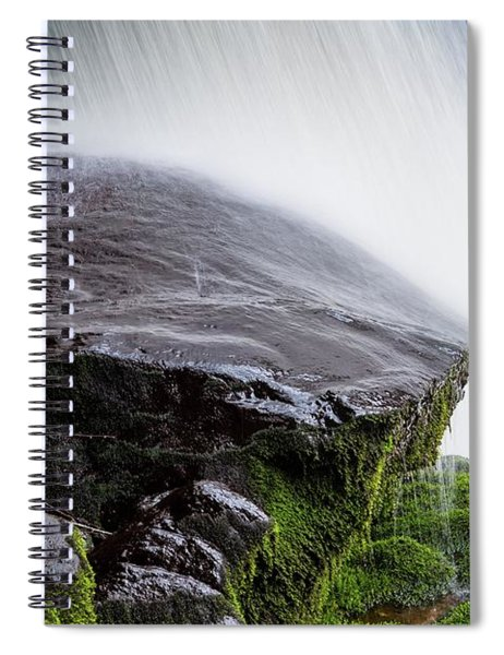 Wet Rock Under Waterfall Spiral Notebook