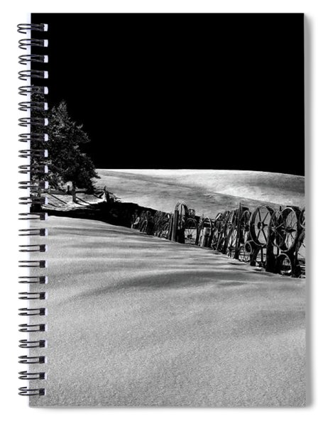 Wheel Fence Line Spiral Notebook
