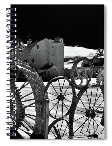 Wheel Shadows Spiral Notebook