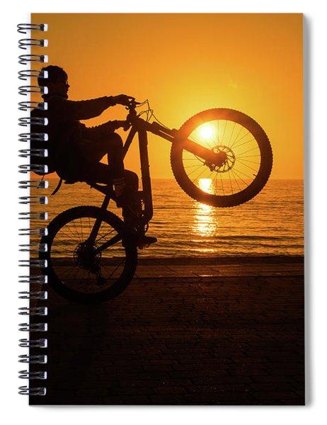 Wheelies At Sunset Spiral Notebook