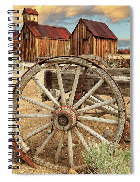 Wheels And Spokes In Color Spiral Notebook