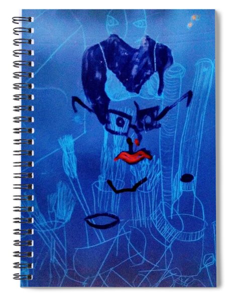 When His Face Is Blue For You Spiral Notebook