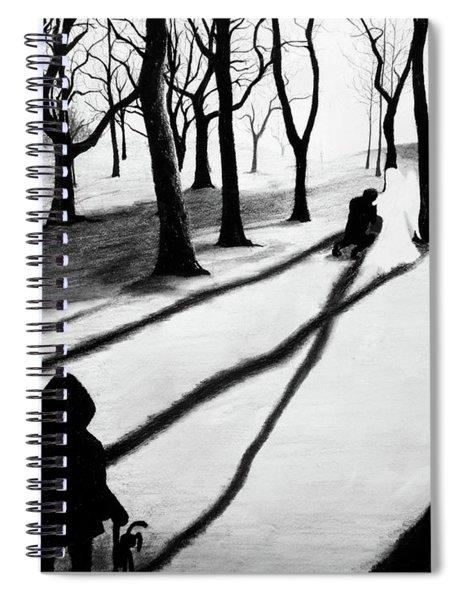 When She Returned... She Saw An Angel - Artwork Spiral Notebook