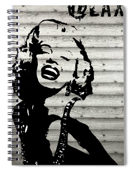 Where Is Marilyn Spiral Notebook by MB Dallocchio
