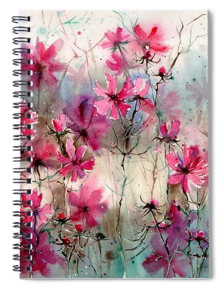 Where Pink Flowers Grew Spiral Notebook