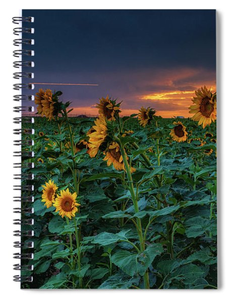 Spiral Notebook featuring the photograph Whispers Of Summer by John De Bord