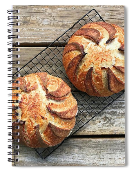 White And Rye Sourdough Swirls Spiral Notebook
