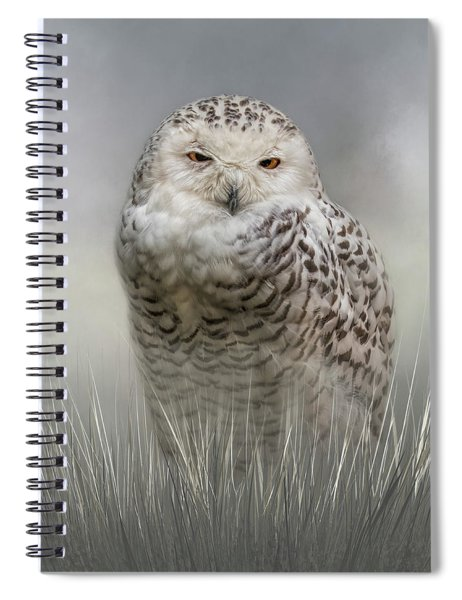 White Beauty In The Field Spiral Notebook