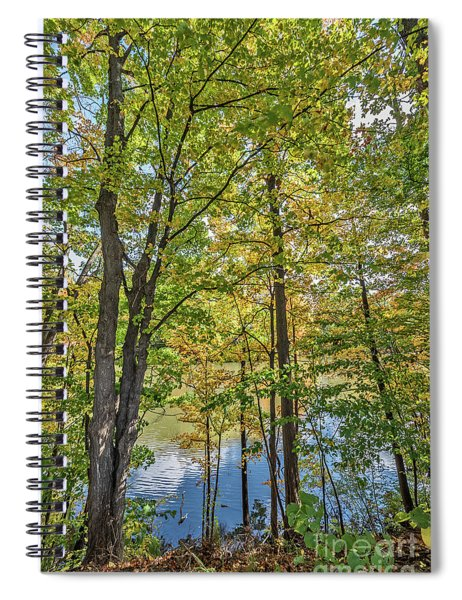 White Clouds Reflected In Rippling Water Spiral Notebook
