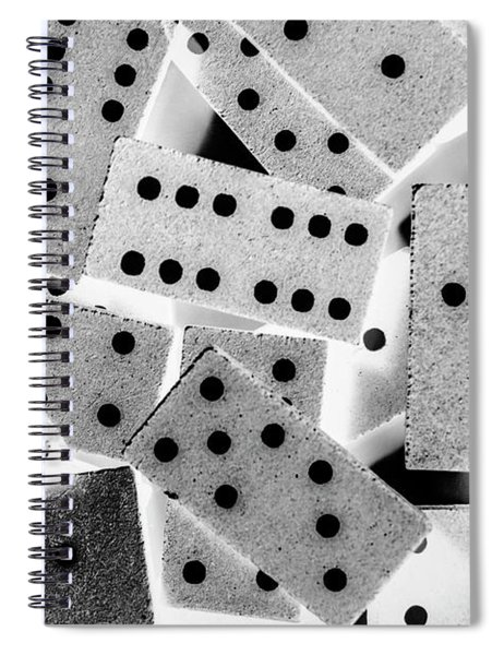 White Dots Black Chips Spiral Notebook
