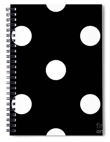 White Dots On A Black Background- Ddh612 Spiral Notebook