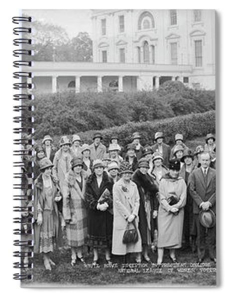 White House Reception By President Spiral Notebook