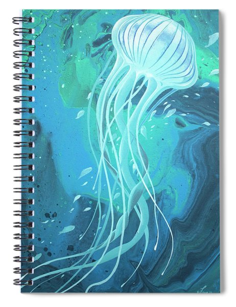 White Jellyfish Spiral Notebook