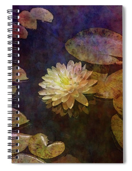 White Lotus Lily Pond 2938 Idp_2 Spiral Notebook