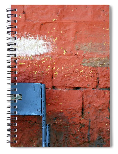 White Patch Blue Chair Spiral Notebook