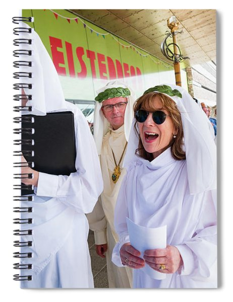 White Robed Bards At The Welsh National Eisteddfod Spiral Notebook