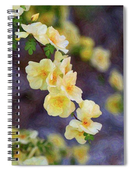 White Rose - Loving Gently- By Omaste Witkowski Spiral Notebook