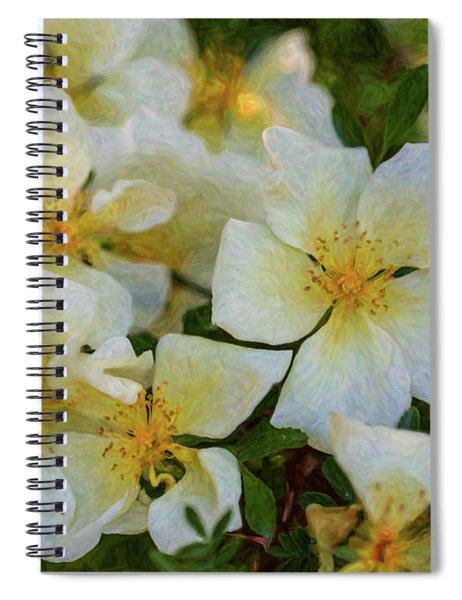 White Rose - Wedding Party- By Omaste Witkowski Spiral Notebook