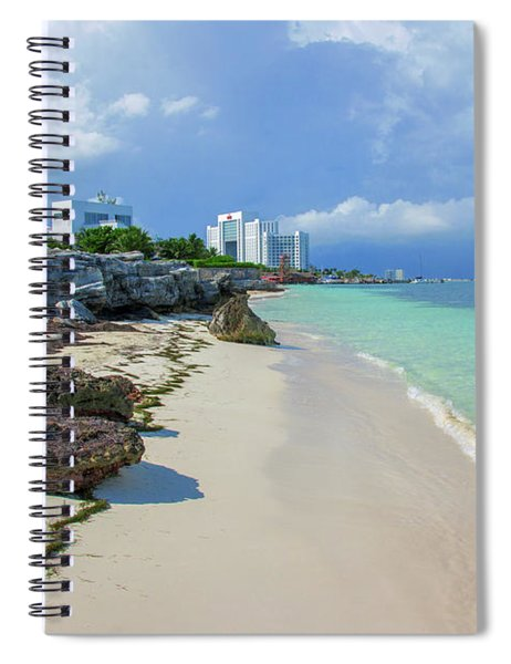 White Sandy Beach Of Cancun Spiral Notebook