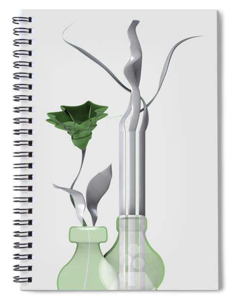 White Soft Stil Life With One Flower. Spiral Notebook
