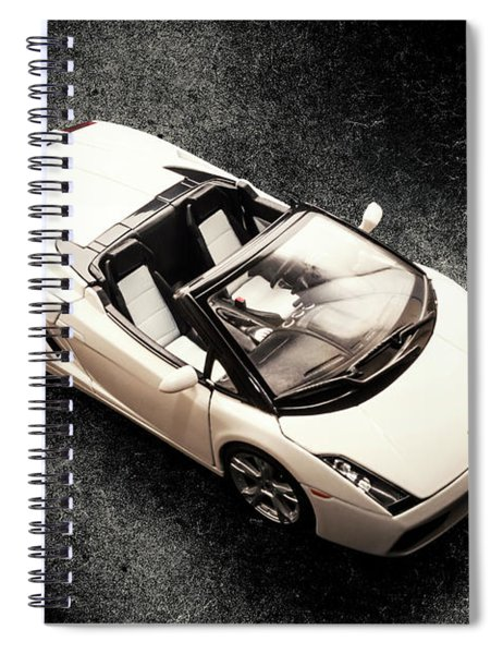White Spyder Spiral Notebook