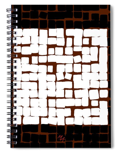 White Square 17x17 Spiral Notebook