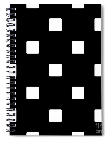 White Squares On A Black Background- Ddh576 Spiral Notebook
