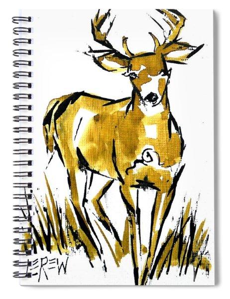 White Tail Buck Deer Spiral Notebook