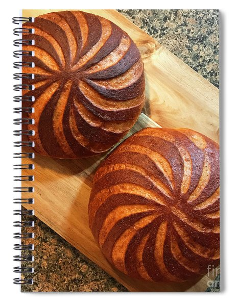 Whole Wheat Sourdough Swirls Spiral Notebook
