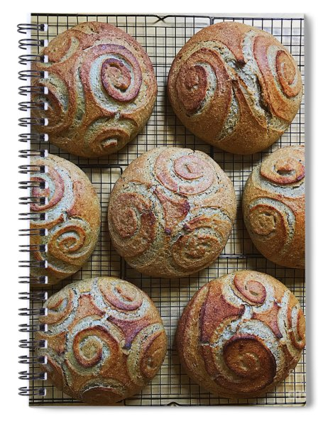 Whole White Wheat, Flax And Rye Sourdough X 7 Spiral Notebook