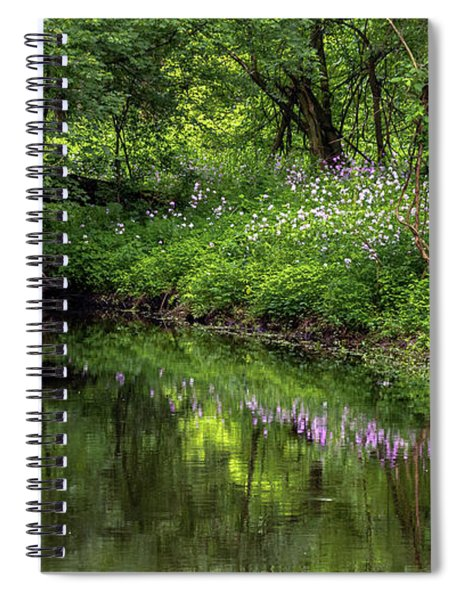 Spiral Notebook featuring the photograph Wildflower Reflections by Rod Best