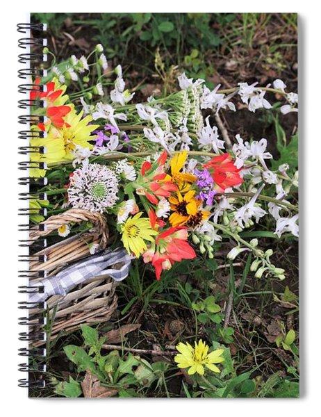 Wildflowers In A Basket Spiral Notebook