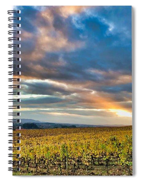 Willamette Valley In Fall Spiral Notebook