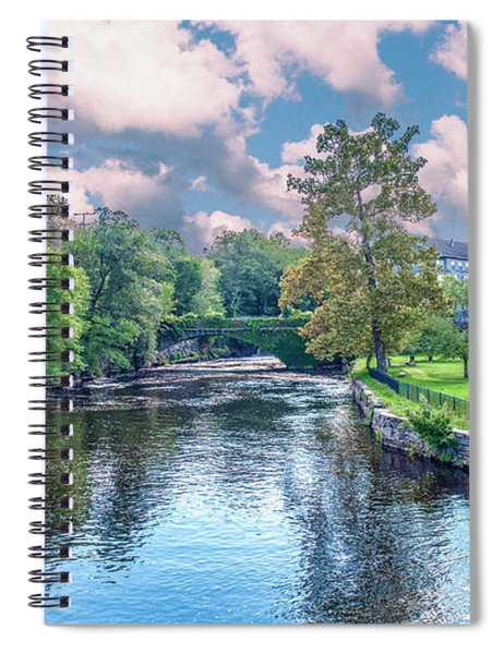 Willimantic River With Clouds Spiral Notebook