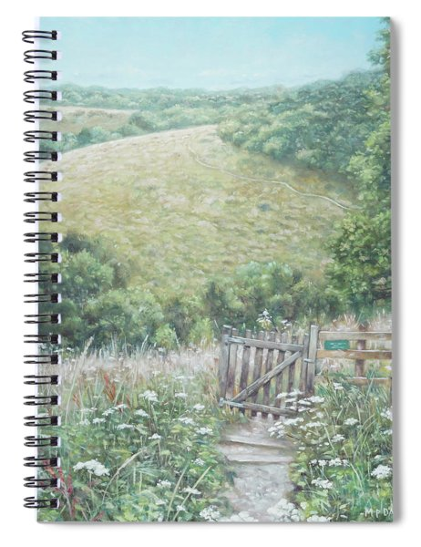 Winchester Hill Area In Hampshire During Summer Spiral Notebook