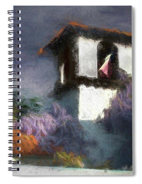 Wind In The Tower Washline Spiral Notebook