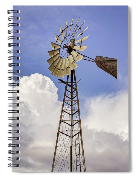 Windmill Before The Storm Spiral Notebook
