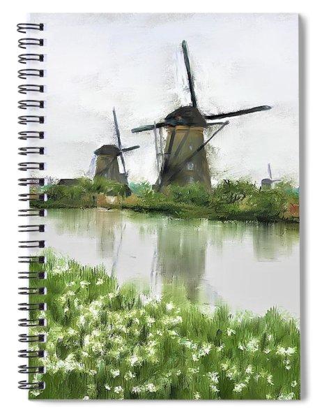 Windmills Spiral Notebook