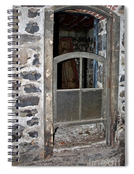 Window Below Spiral Notebook