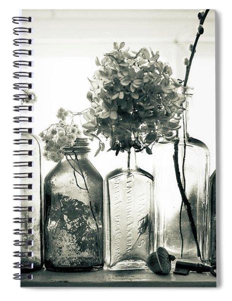 Windowsill Bottles Spiral Notebook