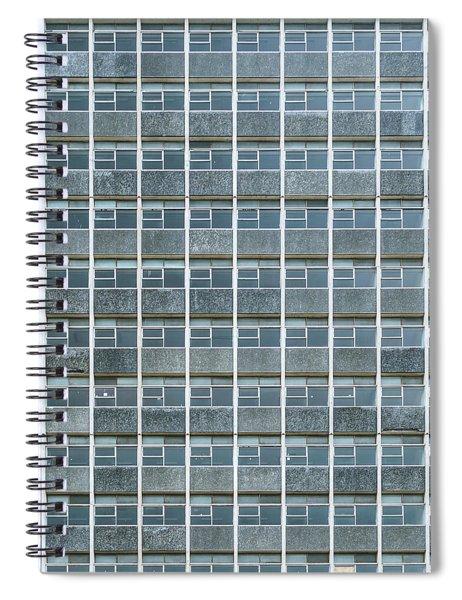 Windows Pattern Modern Architecture Spiral Notebook